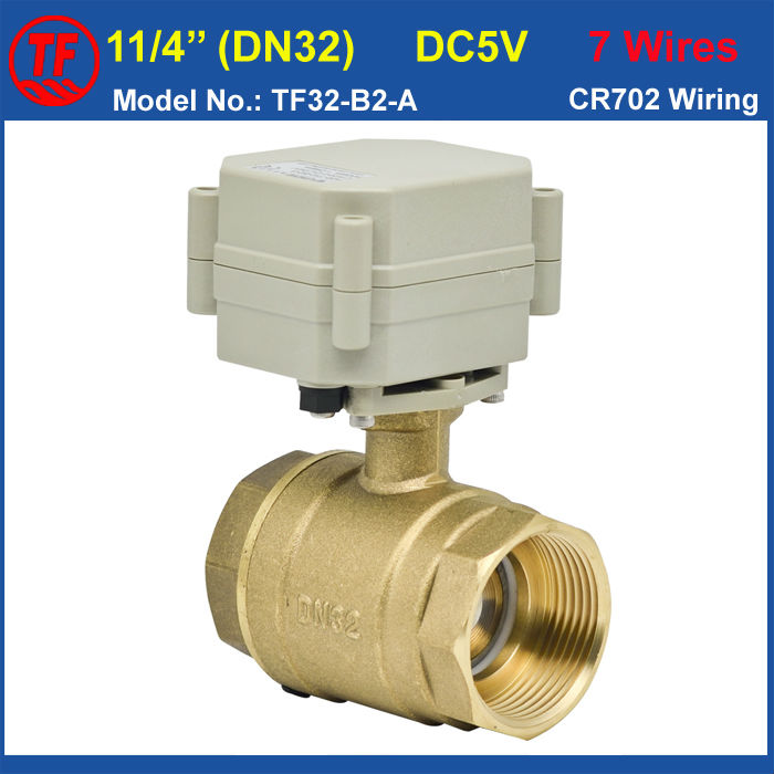 3/4 Brass Electric Ball Valve, DC5V Electric Motorized Valve 7 Wires Control, DN20 Electric Motor Vlave For HVAC Water Heating<br><br>Aliexpress