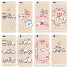 Buy Cute Cartoon Dentist Dental Crowned Tooth Phone Case iPhone X 6 6S 6 Plus 6s 7 8 Plus 5 5S SE Transparent Hard Cell Cover for $1.10 in AliExpress store