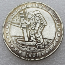 US Hobo 1901 Morgan Dollar In Diver Creative Nickel Coin Pressed Copy Coins High Quality(China)