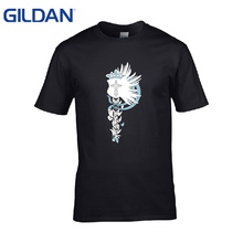 King Shield Of Angels T-Shirt Black Men Price Brand-Clothing No Buckle Cheap Sale Hop Tee Shirt 3xl Men La Camiseta(China)