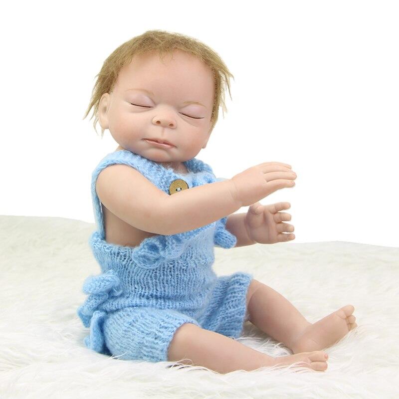 50 cm 20 Inch Reborn Baby Doll Full Silicone Vinyl Real Lifelike Newborn Sleeping Boy Dolls Toy Kids Birthday Xmas Gift<br><br>Aliexpress