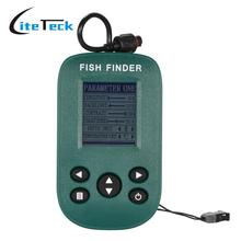Portable Fish Finder Dot Matrix LCD Display Fishfinder with Sonar Sensor Transducer Water Temperature Fish Alarm Fishing Finder