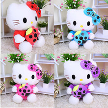 35cm Cute Lovely Hello Kitty Dolls Plush Kids Toys Stuffed Plush Animal Kitty Girls Birthday Christmas Gift For Kids