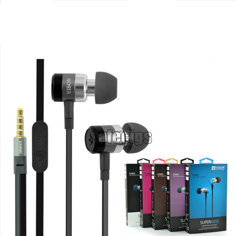 YISON EX900 5 colors 3.5mm In Ear Earphone Bass Earbuds  with Plastic head for iPhone Mobile Phone MP3 MP4 Player Hot Sale<br><br>Aliexpress