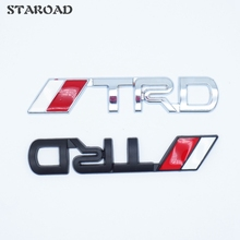 9.5cm X 1.4cm Metal TRD Emblem badge Sticker Car Styling For toyota corolla rav4 yaris camry prius auris Avensis Reiz HighLander(China)