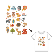 Hoomall Animals Iron On Printing Patches For Clothes Decoration Washable Stickers Heat Transfer Patch Appliques T-shirts DIY(China)