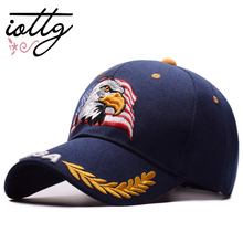 IOTTG European Fashion Hats Hip Hop Baseball Cap Summer Sports Hats USA Flag Eagle Embroidery Snapback Caps Men & Women Caps