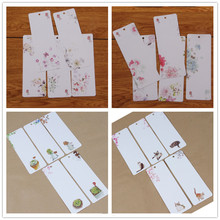 20 pcs/lot DIY Cute Creative Flower Cat Cactus Paper Bookmarks Word Card Office School Supplies Mome Pad Gift segnalibro 01449(China)