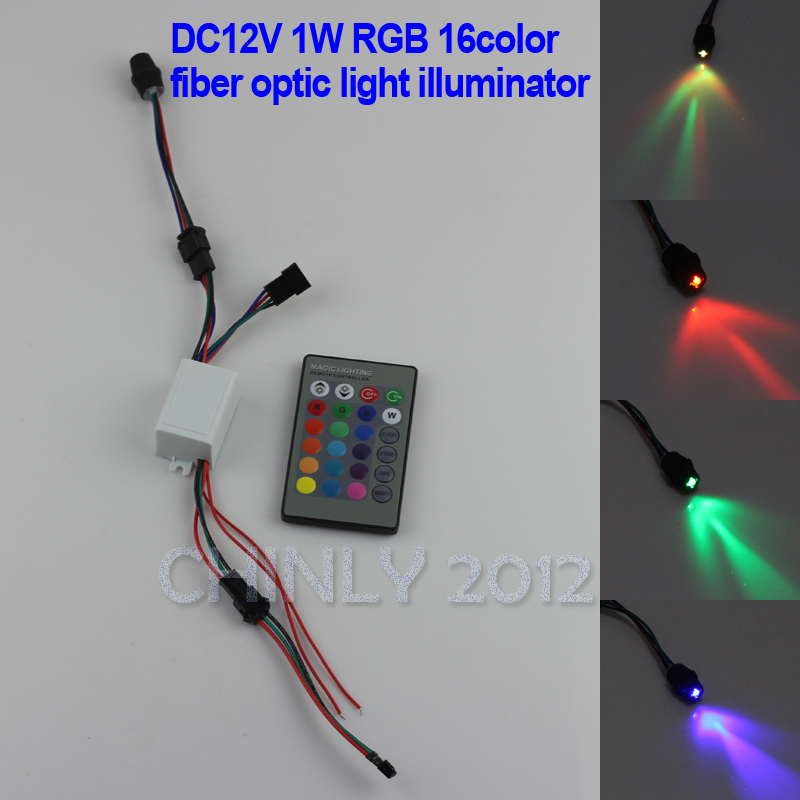 24key remote RGB 2W DC 12V car use  home use car light side glow fiber optic light illuminator constant current power supply<br><br>Aliexpress
