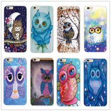 color Cute Owl Pattern Cartoon Soft TPU Silicon Case For Apple iPhone 4 4S 5 5S 5C SE 6 6S 6Plus 6SPlus Back Protective Cover(China)