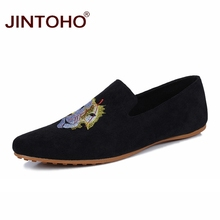 JINTOHO Brand Men Casual Shoes Fashion Breathable Male Shoes Casual Mens Shoes Slip On Men Loafers Cheap Designer Flats Shoes(China)