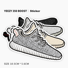 [YEEZY 350 BOOST Sport Casual Shoes Fashion Brand] High Clear Print Waterproof Sticker Car Bicycle Trolley Laptop Doodle Decals