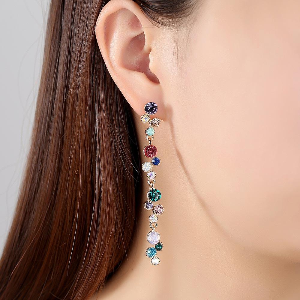 Stud Earring for Women Imitation Diamond Studs Girls CZ Stud Earring Stylish Tree of Life Dangle Earring Jewelry with Brilliant Crystal