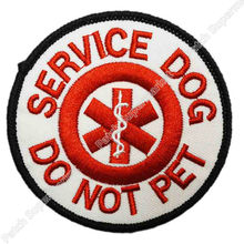 "3"" Service Dog Do Not Pet patch Guide Animal Medical Assistance Iron On Gear Vest Emblem Halloween Costume Embroidered badge"