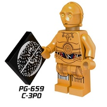 20Pcs Building Blocks Super Heroes Star Wars C-3PO Protocol Droid C3PO Building Blocks Bricks Education Toys for children PG659(China)