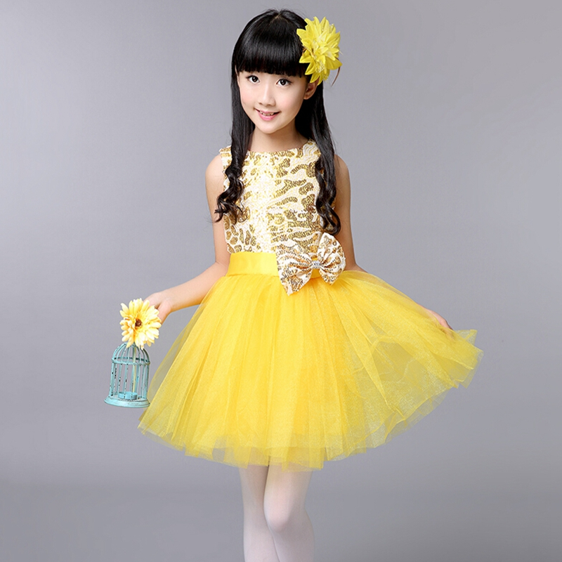 High Grade Children Bubble Yarn Dress Gorgeous Kids Leopard Print Bowknot Dance Clothes Girls Princess Dress Performing Costumes<br><br>Aliexpress