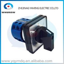 LW26-20/2 high dc voltage automatic electrical changeover rotary cam switch two poles 3 positions 20A sliver point contacts(China)