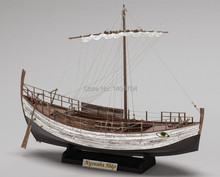 NIDALE model Laser-cut Classic wooden sailing boat wood scale ship 1/43 KYRENIA Wooden Model Include English instruction(China)