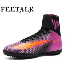 Man's Football Shoes Indoor Latest High-Ankle Soccer Football Cleats Wear-Resistant Sneakers Botas De Futbol Futsal Boot Shoes