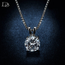fashion women's pendant necklace rhinestone jewelry 925 sterling silver romantic charming wedding link chain wholesale DSN002