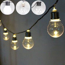 20 LED Globe Connectable Festoon led Party Ball string lighting led Christmas Light fairy light Outdoor wedding garden pendant