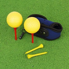 Elastic Mini Golf Ball Holder Bag w/ Hook Clip 2 Balls 4 Tees B2C Shop(China)
