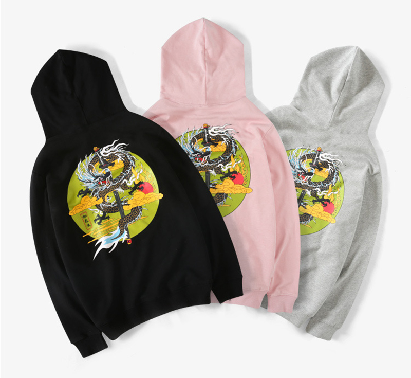 Chinese Dargon Hip Hop Hoodies Sweatshirts