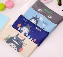 Cute Kawaii Fabric Pencil Case Lovely Cartoon Totoro Pen Bags For Kids Gift School Supplies Free Shipping