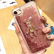 Buy Case iPhone 8 7 6 6S Quicksand Glitter Star Skin Phone iPhone 6SPlus 6plus 7Plus 8Plus Cover 3D Cute Cartoon Bear for $5.10 in AliExpress store