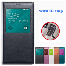 for Samsung Galaxy S5 Case Leather Luxury Smart View Window Flip Phone Case for Samsung S5 Cover Coque for Galaxy S5 Funda i9600