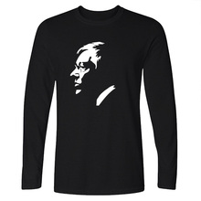 2016 Ferguson United Kingdom Black long Sleeve T-Shirt Fitness Football Tops Tees Manchester Soccer Camisetas Hombre portrait(China)