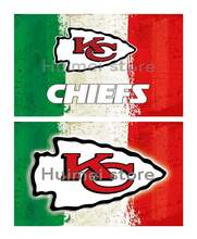 Kansas City Chiefs flag 90x150 cm green white red strip custom banner(China)