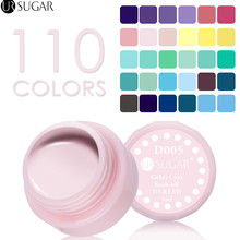 UR SUGAR Nail Gel Light Color 110 Pure Colors Effect Coat UV LED Gel Polish Nail Color Lacquer Nail Gel Varnish 5ml Color Gel(China)