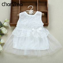 Cute 2017 Summer Infant Baby Girls Dress Outfits Children Tutu Princess Dress Lace Voile Wedding Party Dresses Kids Girl Clothes