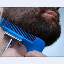 Good quality beard comb beard shaper as beard styling template whiskers comb for hairline facial hair shaping tool AS SEEN ON TV