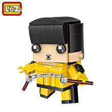 LOZ Bruce Lee Nunchaku Kung Fu Model Mini Building Blocks 111pcs Brick Head Figure Toy For Ages 6+ Offical Authorized 1435(China)
