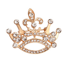 2017 temperament wild retro fashion accessories creative classics hot promotions crown shape Crystal brooch