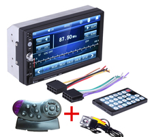 2 Din General Car Models 7'' inch LCD Touch Screen Car Radio Player Bluetooth Car Audio  Rear View Camera+ steering wheel contro