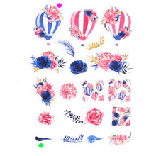 20pcs different hot air balloon Self-adhesive Die cut sticers DIY Scrapbooking /decals photo frame/Card Making Small stickers(China)