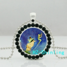New Peter Pan Fairy Dust Necklace Peter Pan Jewelry Fairy Tale Crystal Pendant Necklace Gifts For Children