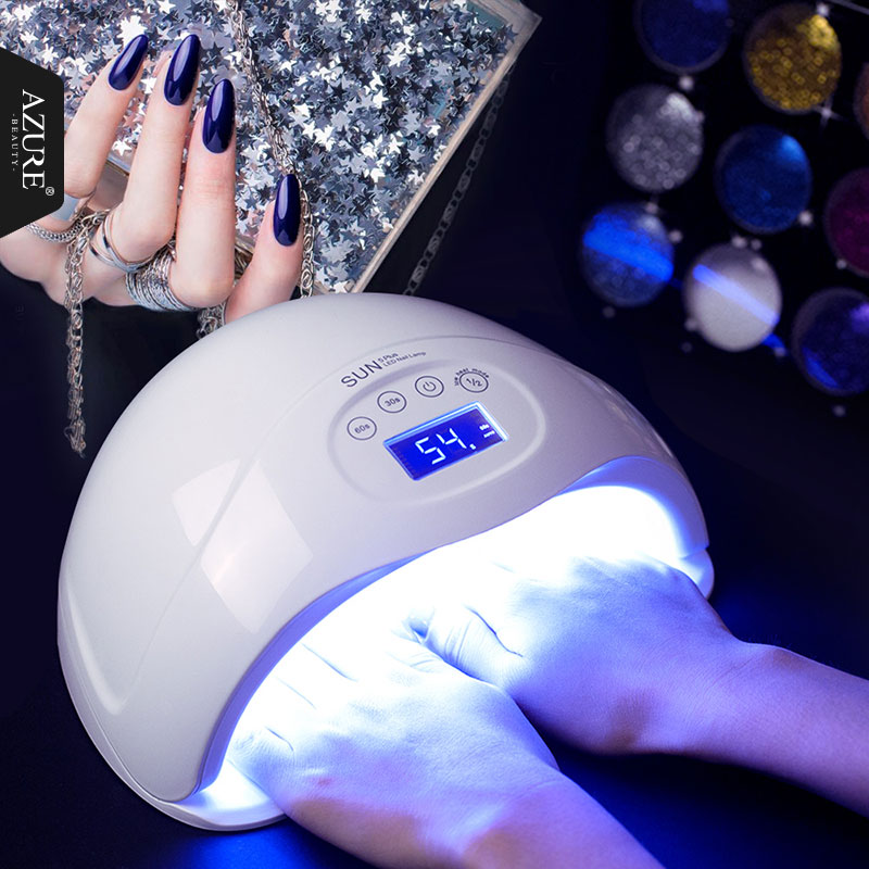 Azure Beauty SUN5 PLUS UV Nail Dryer LCD Display 48W Big Powder Led Nail Lamp Machine For Curing All UV Gel Nail Polish<br>