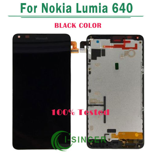 10/PCS FREE DHL LCD Screen For Nokia for Microsoft Lumia 640 LCD Diaplay Screen Touch Digitizer With frame Assembly Black<br>
