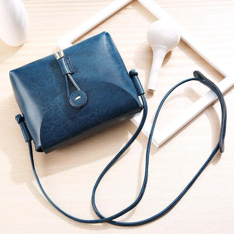 MZORANGE Genuine Leather small Bag 2018 Womens handBag Simple vintage Lady Flap Shoulder bag Cowhide Crossbody Messenger Bags<br>