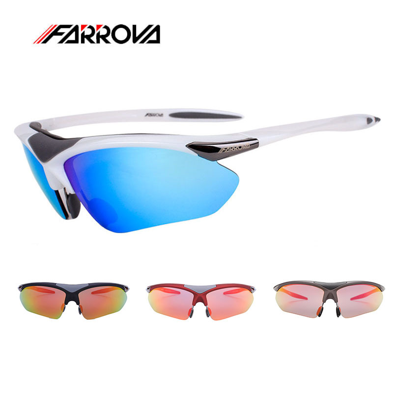 Farrova Polarized Cycling Sunglasses For Motorcycle Outdoor Sports Eyewear Bicycle Glasses Sun Glasses Bike Goggles With 5 Lense<br>