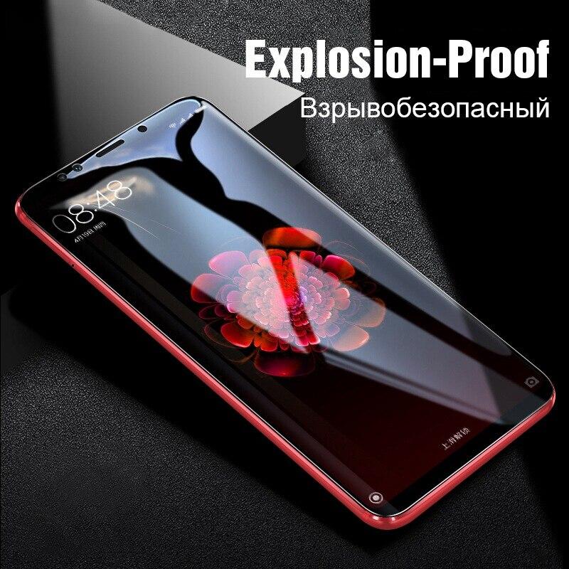 TOMKAS Tempered Glass For Xiaomi Redmi 6 Glass Cover Screen Protector 6D Protective Glass Redmi Note 5 Pro Mi A1 6X Redmi 5 Plus
