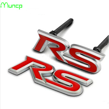 Muncp RS Grill Metal 3D Label Auto front hood Logo Cover Badge Car Body Emblem Sticker for Infiniti FX-series Q-series QX-series