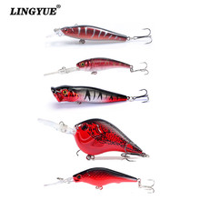 New 5pcs/lot Fishing Lures Mixed 5 Models Hard Baits Artificial Make Plastic Bass Crankbait Wobblers Fishing Tackle Pesca Y-T156(China)