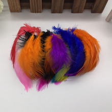 Hot sale! Natural Pheasant Chicken 100pcs 13 colors Beautiful Rooster feather 6-9cm 2-4Inch DIY Craft Decoration