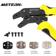 Meterk 4 In 1 multi tools Pliers Wire Crimper Engineering Ratcheting Terminal Wire crimping Tool + Wire Stripper+ S2 Screwdriver(China)