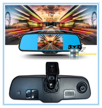 "Dual lens capacitive screen 5"" Android 4.0 Car Rear view mirror Car DVR Camera Rear View camera Bluetooth Wifi GPS MP5 PIP USB"